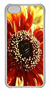 Customized iphone 5C PC Transparent Case - Sunflower In Sunlight Personalized Cover