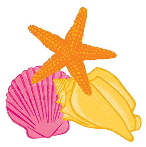 Hawaiian Summer Luau Party Assorted Sea Shells Cutout Wall Decoration, Paper, Pack of - Out Decorations Cut Luau