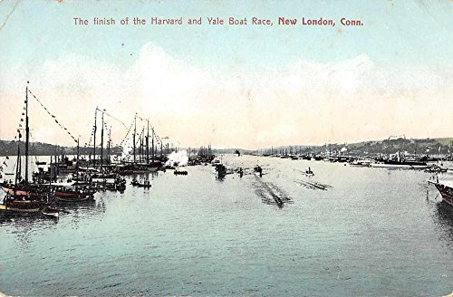 New London Connecticut Harvard and Yale Boat Race Antique Postcard J57860