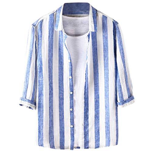 (Men's Relaxed-Fit Silk/Linen Tropical Leaves Jacquard Shirt Hawaiian Flower Print Casual Button Down Short Sleeve Shirt)
