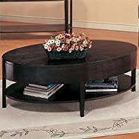 Bowery Hill Oval Coffee Table in Cappuccino