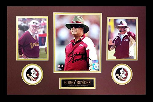 (Bobby Bowden Autographed/Signed Florida State Seminoles Framed 8x10 NCAA Photo - Color)
