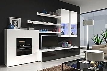 Meubles jolis-Meuble de salon-Violet Noir et Blanc 3 m mod 2 ...
