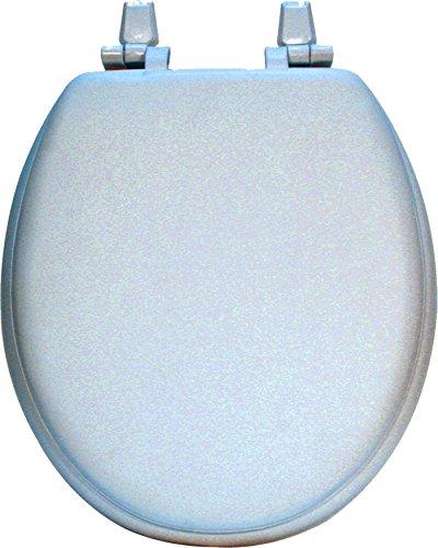 Home Dynamix Hard Wood Toilet Seat, Standard Size, Light Blue