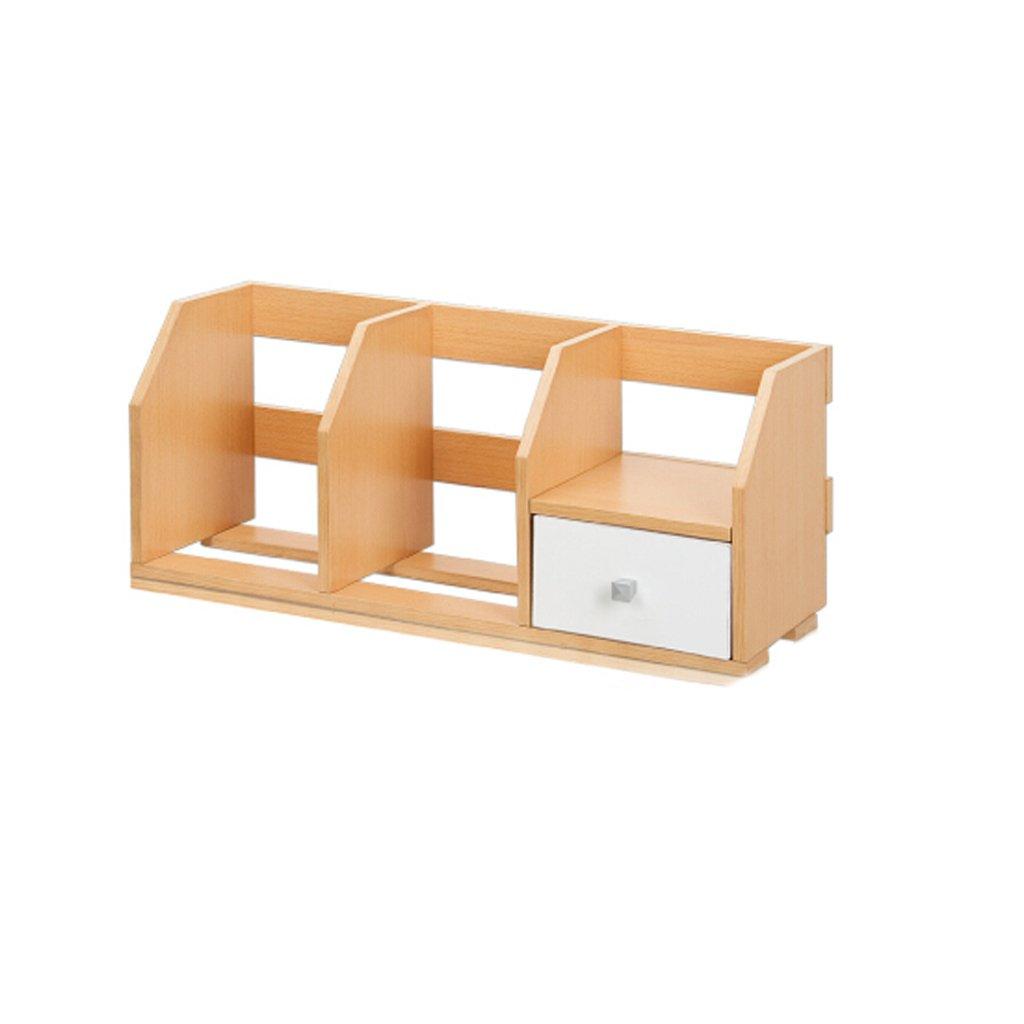 Promoción por tiempo limitado GXYGWJ Escritorio Pequeña Librería con Estantes Estante Cajón De La Oficina, De Madera De Color 60  21  25cm Estante para Libros