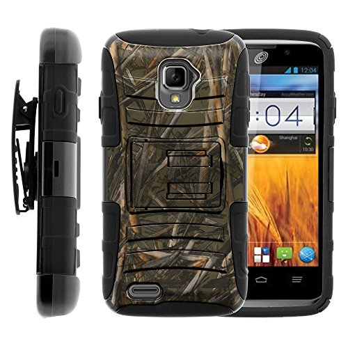 ZTE Rapido LTE Case, ZTE Rapido LTE Holster, Two Layer Hybrid Armor Hard Cover with Built in Kickstand for ZTE Rapido LTE Z932L (Straight Talk) from MINITURTLE | Includes Screen - Lte Cover For Zte Phone Rapido