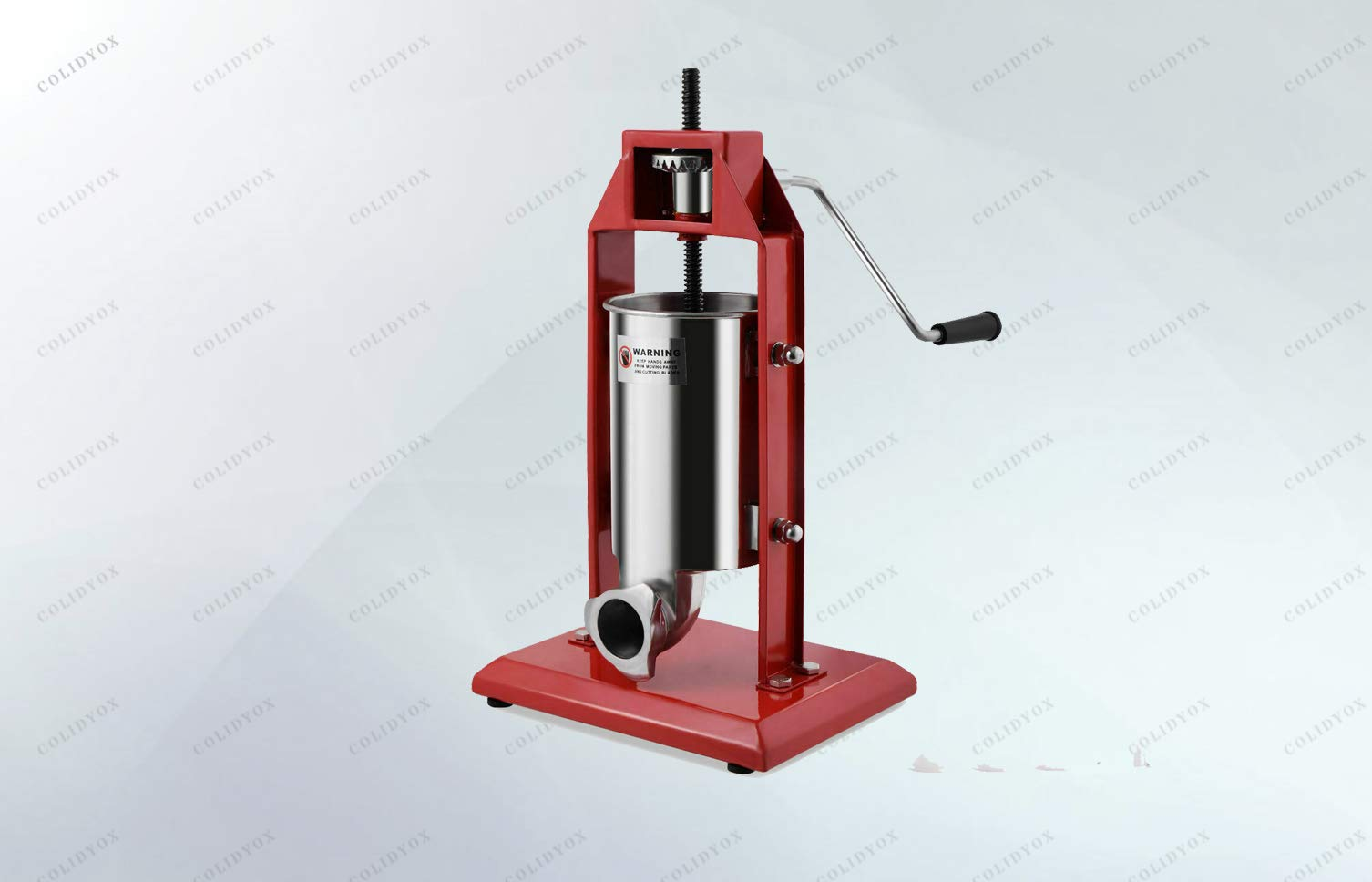 COLIDYOX>>>3L Vertical Sausage Stuffer Meat Maker It is easy to operate and easy to clean. Simple use the hand crank to push meat through one of 4 provided stuffing funnels to fill the casing of your