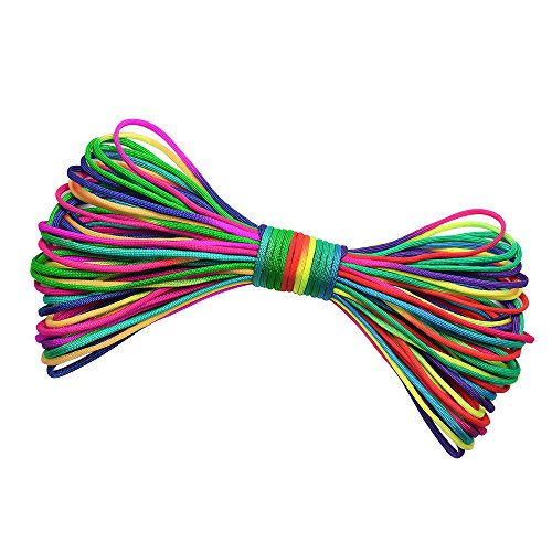 (Dreamtop 101Ft Rainbow Parachute Rope Strand Outdoor Camping Hiking Paracord)