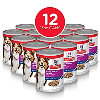 Hill's Science Diet Wet Dog Food, Adult 7+ for Senior Dogs, Beef & Barley Recipe, 13 oz Cans, 12 Pack (7056)