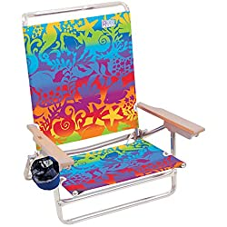 Rio Beach Classic 5 Position Lay Flat Folding Beach Chair - Coney Island Neon