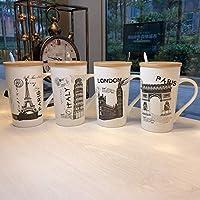 Satyam Kraft (Pack of 1) City Printed Ceramic Coffee Mug with Lid for Diwali Gift,Christmas Gift, Coffee Mug Ceramic Mug
