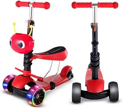 WNLOFT Andador para niños, Patinete de Tres Ruedas, patineta motorizada, Bicicleta-Red: Amazon.es: Juguetes y juegos