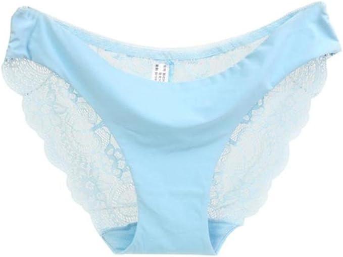 JiaMeng Lencería, Bragas de Encaje de Mujer Bragas de algodón sin Costura Bragas Huecas Cintura Baja Ropa Interior: Amazon.es: Ropa y accesorios