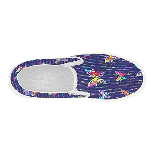 Interestprint Floral Slip On Canvas Zapatos Para Mujeres Butterflies With Dots