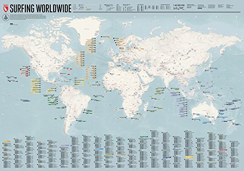 Surfing Worldwide   Map  The Ultimate Map Showing You When And Where To Surf.
