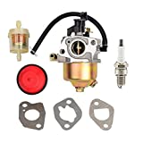 HIFROM Carburetor With Fuel Filter Primer Bulb Spark Plug for MTD Troy Bilt Cub Cadet Snow Blower Replace 951-14026A 951-14027A 951-10638A
