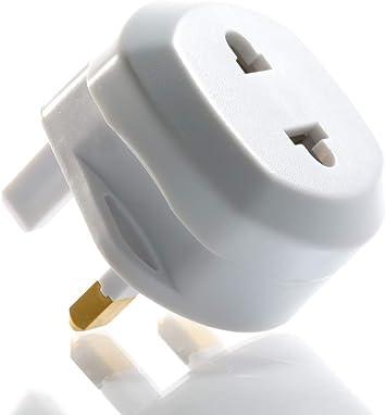 SiPudo Adaptador de Viaje para cobertor Enchufe Euro 2 Pin a UK 3 ...