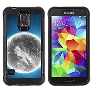 Paccase / Suave TPU GEL Caso Carcasa de Protección Funda para - Grey Planet Alien World Art Bright Atmosphere - Samsung Galaxy S5 SM-G900