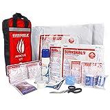 Burnshield Emergency Burn Kit & Nylon Bag with Bandages, Scissor, and Tape