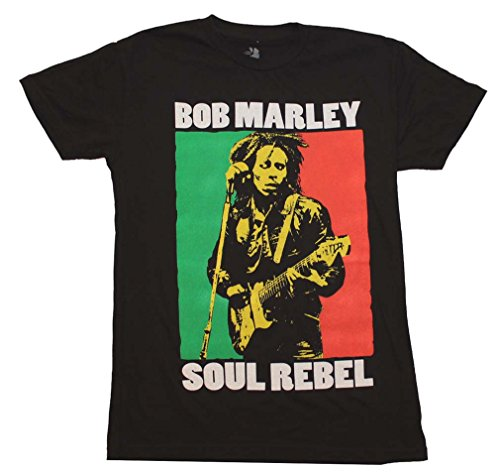 (Bob Marley Soul Rebel T-Shirt Black (Small))