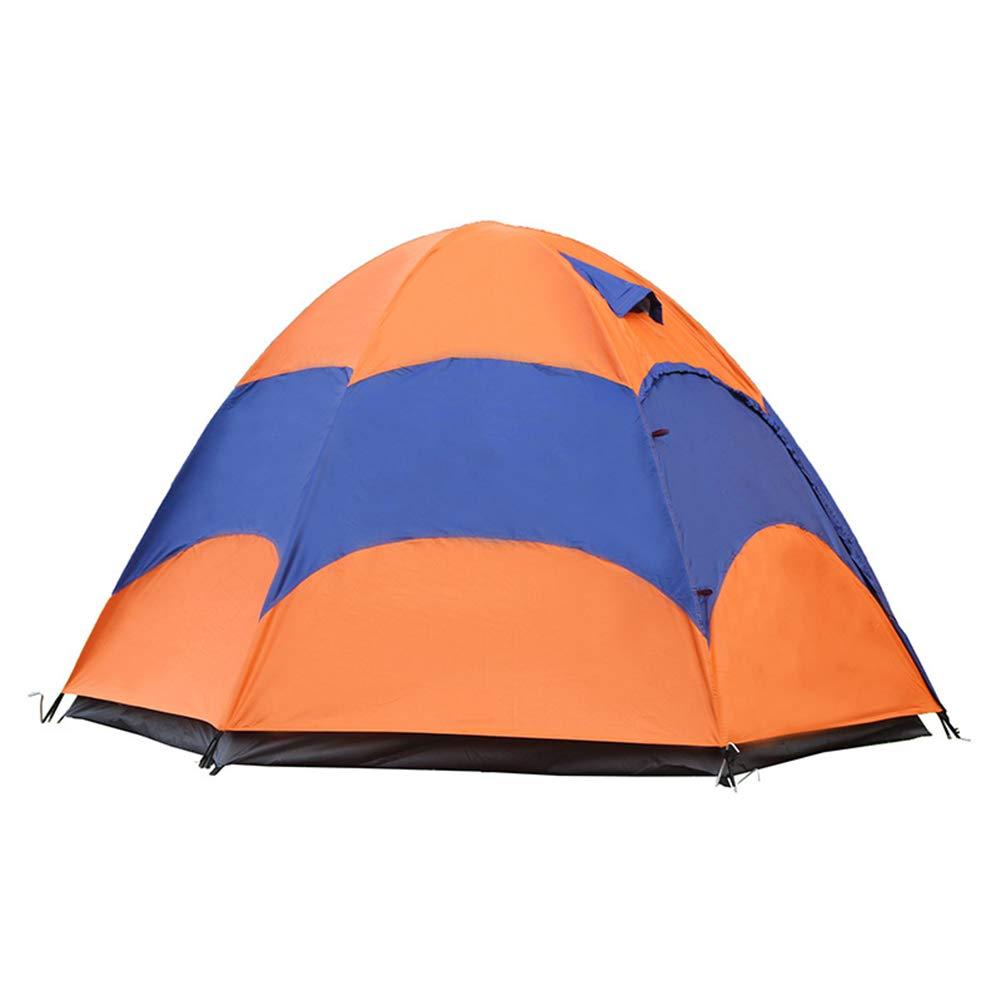 Outdoor product AußEnzelt, GroßE Hexagonalen Doppel Strand Camping Zelt Regen 2-3-4 Reisende Familien Mit Dem Auto Wanderzelt (Orange) Nanayaya