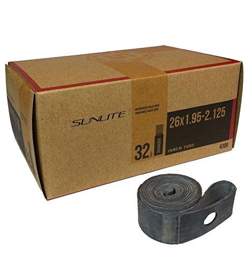Tube & Rim Strip, Tube 26 x 1.95-2.125 SCHRADER Valve - Rim Strip, 26 x 20mm
