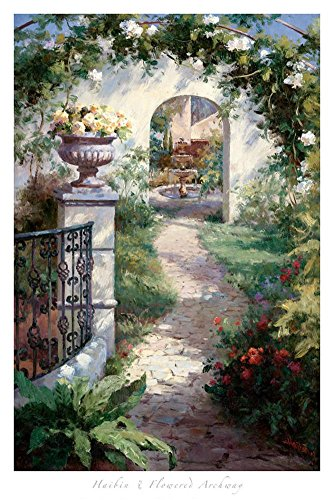 Flowered Archway Art Print by Haibin 24 x 36in
