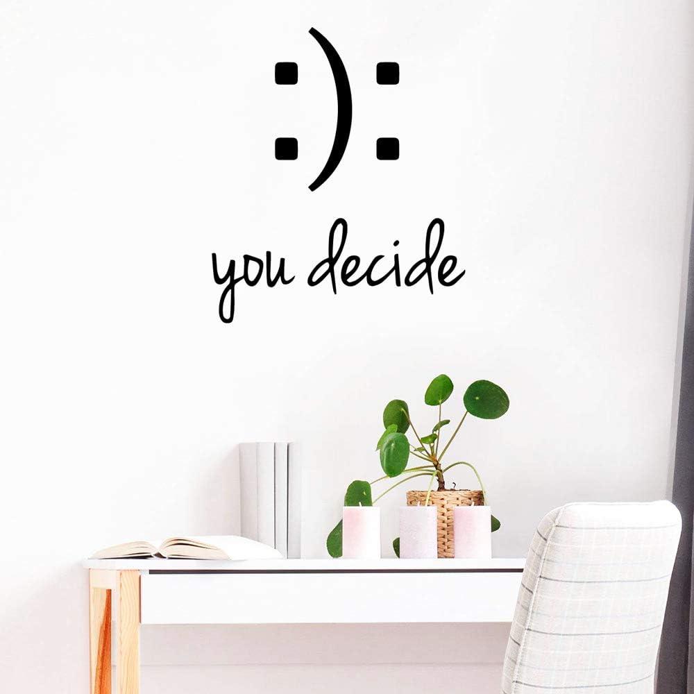WSLIUXU Tú decides Pegatinas de pared Decoración para el hogar ...
