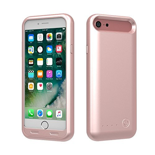 TAMO EDGE 3100 mAh Dual-Purpose Ultra-Slim Protective Extended Battery iPhone 7 Case, Rose Gold (Premium Retail Packaging) by TAMO