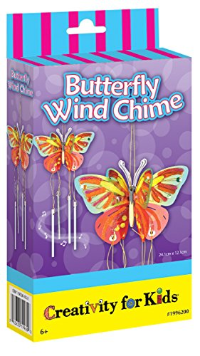 Creativity for Kids Butterfly Wind Chime Mini Craft -