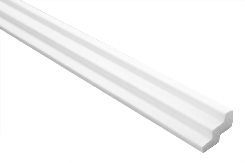 2 m En polystyr/ène extrud/é D/écoration 4 blanc XPS Transmission de plafond et de mur Moulure E-17 Profil de chaise 19 x 30 mm L/ég/ère et stable