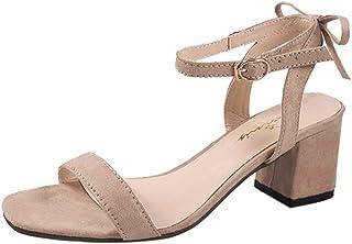 Escarpins Femmes Été, Manadlian Sandales à Talon Carré Talon Haut Sandales de Boucle Cusual Chaussures Manadlian Sandales à Talon Carré Talon Haut Sandales de Boucle Cusual Chaussures