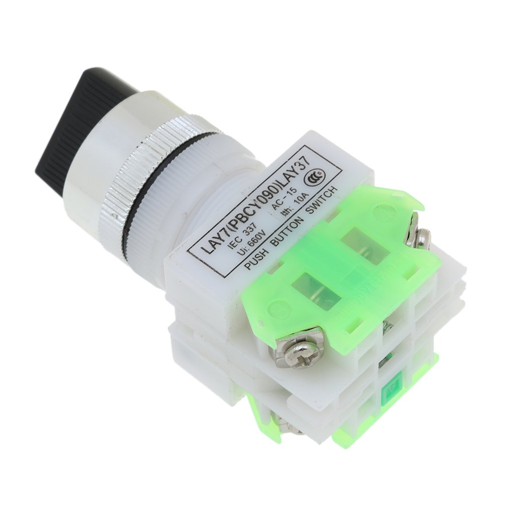 Segolike Lay37 Ui660v 3 Position Industrial Selector Rotary Switch How To Wire Push Button 15 A 22mm Home Improvement