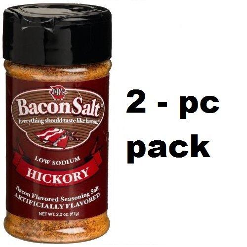 BACON SALT- ORIGINAL (2 Pack) ZERO Calorie & Low Sodium (HICKORY)