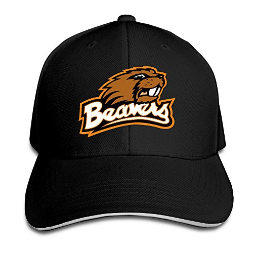 Bro-Custom Oregon State Beavers Mascot Sandwich Flex Fit Hat Running Chapeau Black
