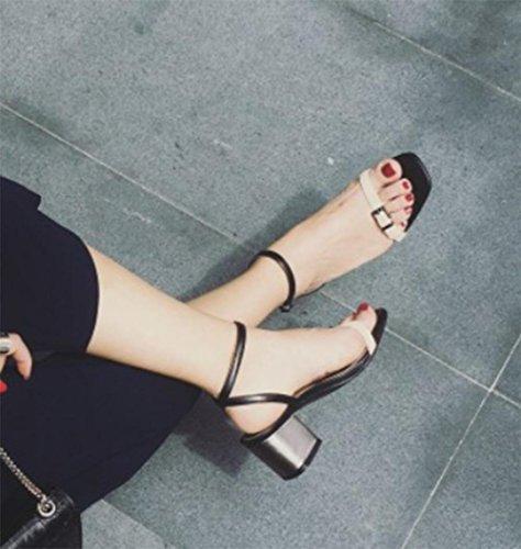 mit dicken Sandalen mit der Wort-Art Schnalle offener Sandalen Frauen Frauen-Sandalen Schuhe Sommer Sandalen apricot