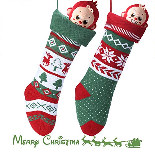Knit Christmas Stockings for Family 22