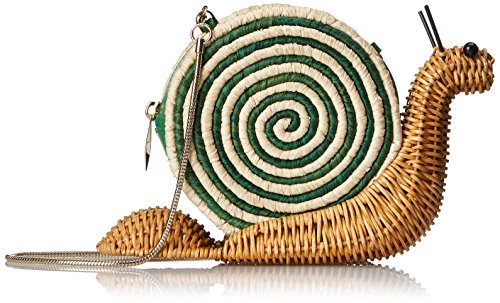 Spring Wicker Sprout new Body Natural Cross kate Snail Forward york Bag Green spade 1qtwPPWXA