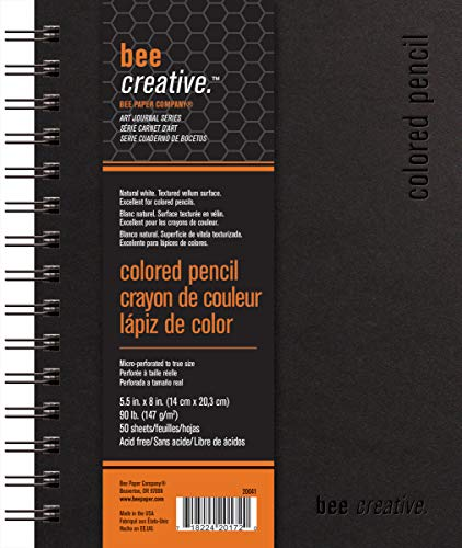 "Bee Paper Company Bee Paper Bee Creative Colored Pencil Book, 5-1/2""-by-8"", 5-1/2x8"