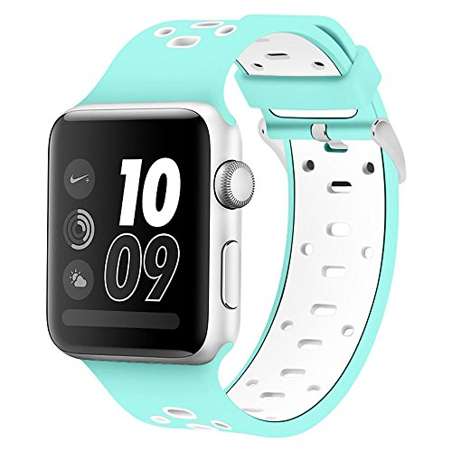Compatible Apple Watch Band 38mm/ 40mm, Alritz Silicone Sport Strap Replacement for Apple Watch Series 4/Series 3/Series 2/Series 1/Nike+ ()
