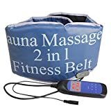 Hubry (TM) Electric Vibrating heating Sauna Fitness waist back massage Belt Body Health care Massager tone RELAX TONE fat weight losing