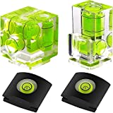 Anwenk Hot Shoe Level Camera Bubble Level Hot Shoe Spirit Level Hot Shoe Cover (Includes 3 Axis Bubble Level, 2 Axis Bubble Level and 1 Axis Hot Shoe Cover) Combo Pack
