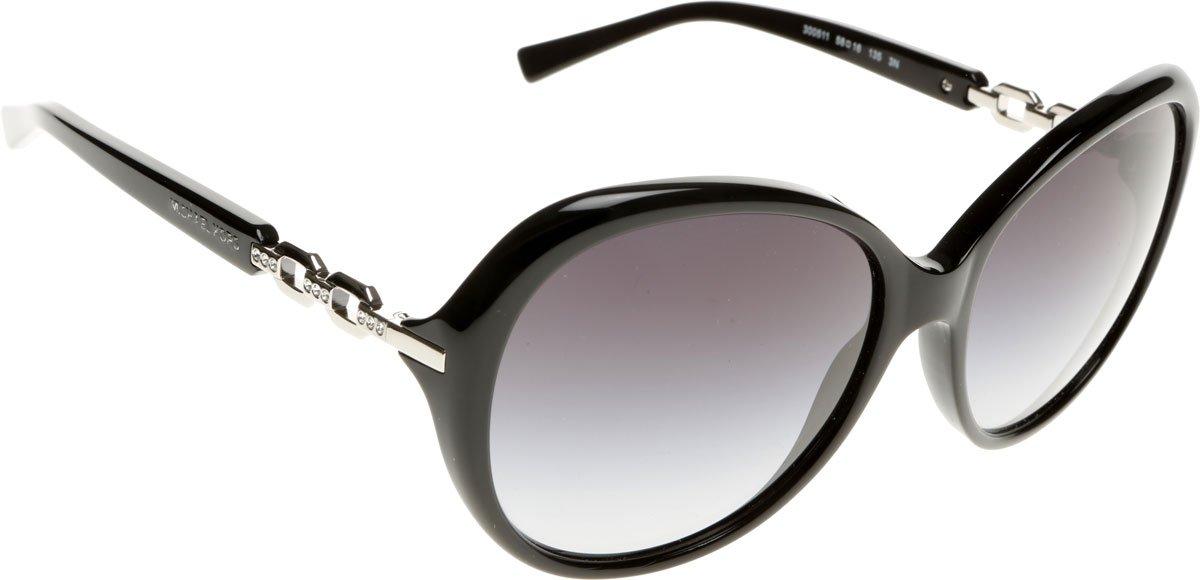 Michael Kors Damen Sonnenbrille MK2008B Andorra, Schwarz (Black 300511), One size (Herstellergröße: 58)
