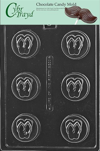 5272e8aff63c46 Image Unavailable. Image not available for. Color  Cybrtrayd M233 Flip Flop  Cookie Miscellaneous Chocolate Candy Mold