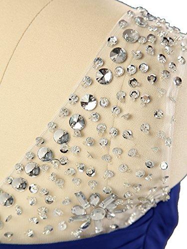 Smaragd Brautjungfer Grün Chiffon Lang Damen Abendkleid Kmformals Abschlussball Formale Perlen Kleider T0qzfwwv7