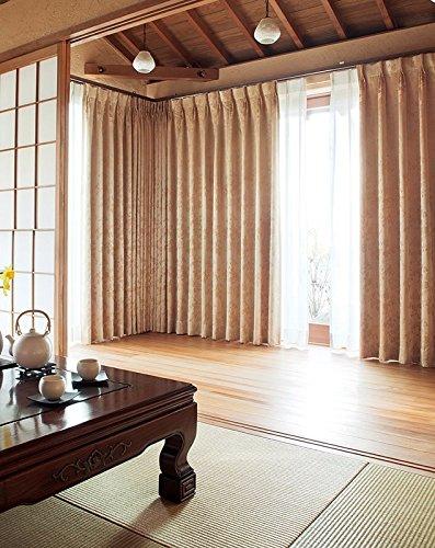 東リ 美しいサテン地に繊細な花柄 カーテン1.5倍ヒダ KSA60165 幅:200cm ×丈:220cm (2枚組)オーダーカーテン   B077TBTNT8