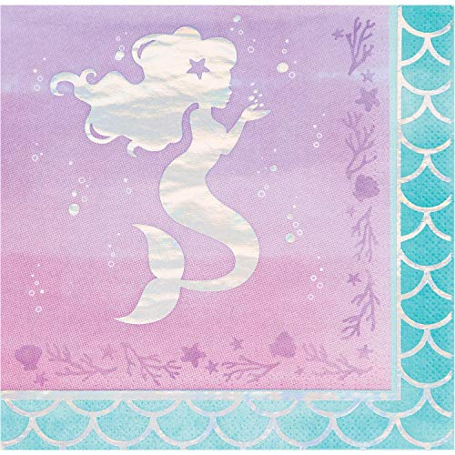 (Iridescent Mermaid Party Napkins, 48 ct)