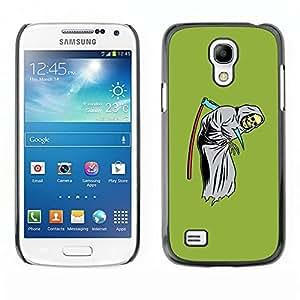 LECELL--Funda protectora / Cubierta / Piel For Samsung Galaxy S4 Mini i9190 MINI VERSION! -- Scythe Death Funny Reaper Grim Green --