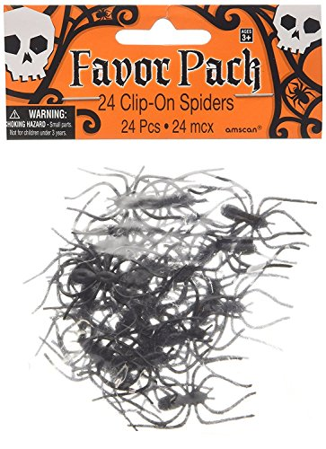Amscan Creepy Halloween Clip On Spider Party Favor
