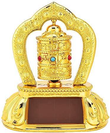 Rueda de oración - Rueda de oración giratoria de energía solar budista tibetana del Tíbet para decoración de interiores de automóviles